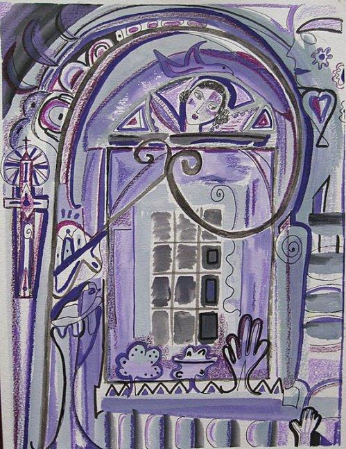 girl in door