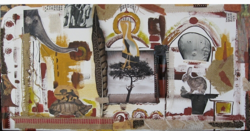 Collage and mixed media by Kartika