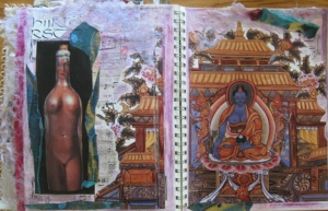 Art Journal pages - mixed media collage